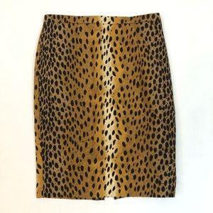 Michael Michael Kors Leopard Pencil Skirt